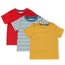 Buy John Lewis Baby Stripe and Chevron T-Shirt, Pack of 3, Multi Online at johnlewis.com