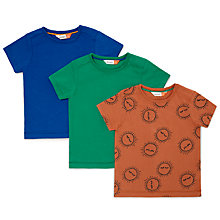 Buy John Lewis Baby Sun Jersey Long Sleeve T-Shirt, Pack of 3, Multi Online at johnlewis.com