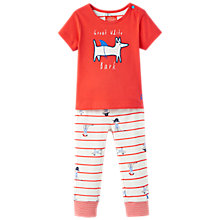 Buy Baby Joule Baby Doodle Sea Dog Top and Trousers Set, Red Online at johnlewis.com