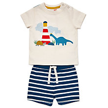 Buy John Lewis Baby Lighthouse T-Shirt and Shorts Set, Multi Online at johnlewis.com