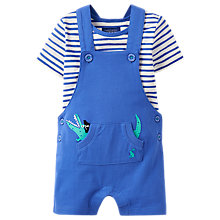 Buy Baby Joule Baby Wade Crocodile Dungaree and Top Set, Blue Online at johnlewis.com