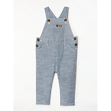 Buy John Lewis Baby Striped Dungarees, Blue Online at johnlewis.com