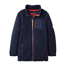 Buy Little Joule Boys' Angus Zip Through Fleece, Navy Online at johnlewis.com