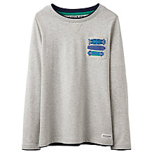 Buy Little Joule Boys' Finlay Jersey Top, Grey Online at johnlewis.com