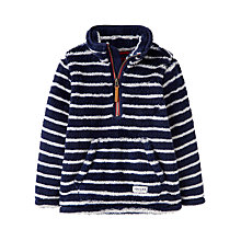 Buy Little Joule Boys' Woozle Half Zip Fleece, Navy Online at johnlewis.com