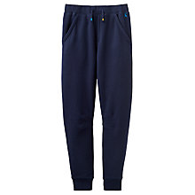 Buy Little Joule Boys' Sid Pique Joggers, Navy Online at johnlewis.com