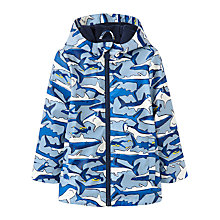 Buy Little Joule Boys' Shark Skipper Coat, Blue Online at johnlewis.com