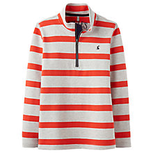 Buy Little Joule Boys' Half Zip Sweatshirt, Red Online at johnlewis.com