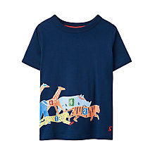 Buy Little Joule Boys' Young Ray Animal T-Shirt, Navy Online at johnlewis.com