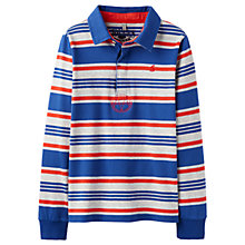 Buy Little Joule Boys' Junior Woodrow Rugby Top, Red Online at johnlewis.com