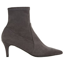 Buy Dune Orllanda Kitten Heel Ankle Sock Boots, Grey Online at johnlewis.com