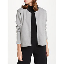 Buy PATTERNITY + John Lewis Be Great Be Grateful Sweat Bomber Jacket, Grey Online at johnlewis.com