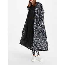 Buy PATTERNITY + John Lewis Flow Print Longline Parka, One Size, Black/White Online at johnlewis.com