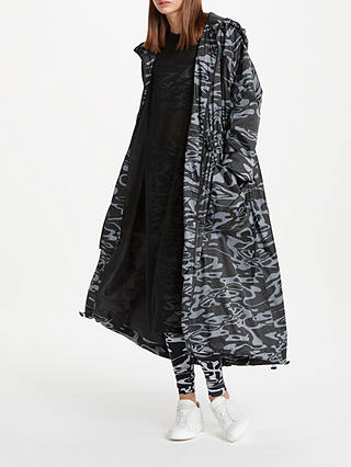 Buy PATTERNITY + John Lewis Flow Print Longline Parka, Black/White, One size Online at johnlewis.com