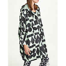 Buy PATTERNITY + John Lewis Signature Print Pac-A-Mac, One Size, Black/Aqua Online at johnlewis.com