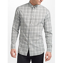 Buy J.Lindeberg Daniel Check Long Sleeve Shirt, Off White Online at johnlewis.com