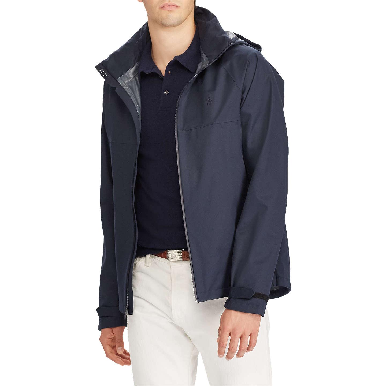 BuyPolo Ralph Lauren Repel Waterproof Hooded Jacket, Navy, S Online at  johnlewis.com ...