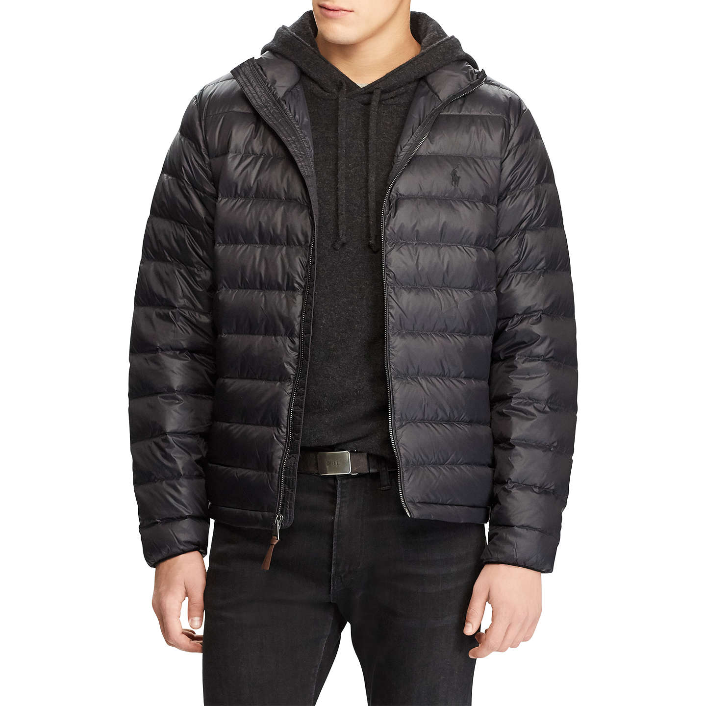 BuyPolo Ralph Lauren City Down Fill Jacket, Polo Black, S Online at  johnlewis.
