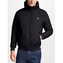 Buy Fred Perry Brentham Quilted Jacket, Black Online at johnlewis.com