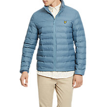 Buy Lyle & Scott Wadded Funnel Neck Jacket, Mist Blue Online at johnlewis.com