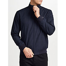 Buy Fred Perry Brentham Marl Funnel Neck Jacket, Navy Online at johnlewis.com
