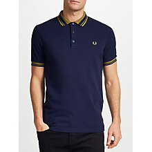 Buy Fred Perry Contrast Collar Polo Shirt, Carbon Blue Online at johnlewis.com