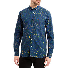 Buy Lyle & Scott Climbing Print Long Sleeve Shirt, Navy Online at johnlewis.com