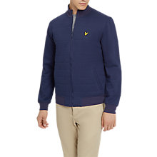 Buy Lyle & Scott Wadded Funnel Neck Zipped Sweatshirt, Navy Online at johnlewis.com