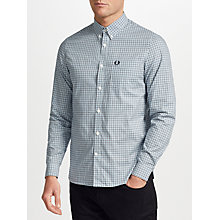 Buy Fred Perry Three Colour Gingham Shirt, Clay Online at johnlewis.com