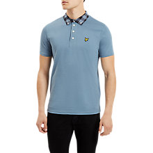 Buy Lyle & Scott Woven Collar Short Sleeve Polo Shirt Online at johnlewis.com