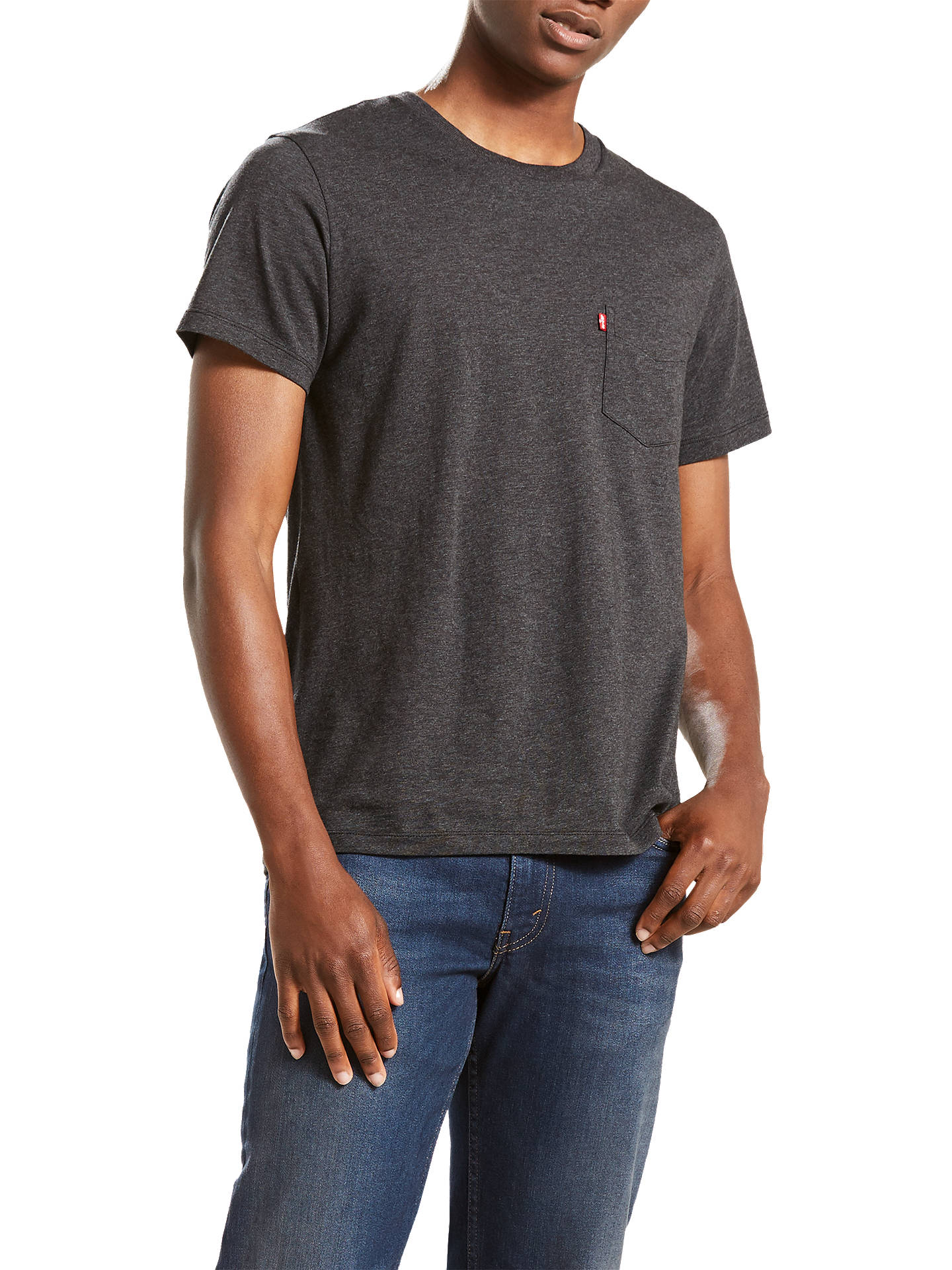 da7caa42 Buy Levi's Short Sleeve Sunset Pocket T-Shirt, Obsidian Heather, S Online at  ...