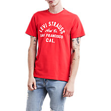 Buy Levi's Graphic Set T-Shirt, Chinese Red Online at johnlewis.com