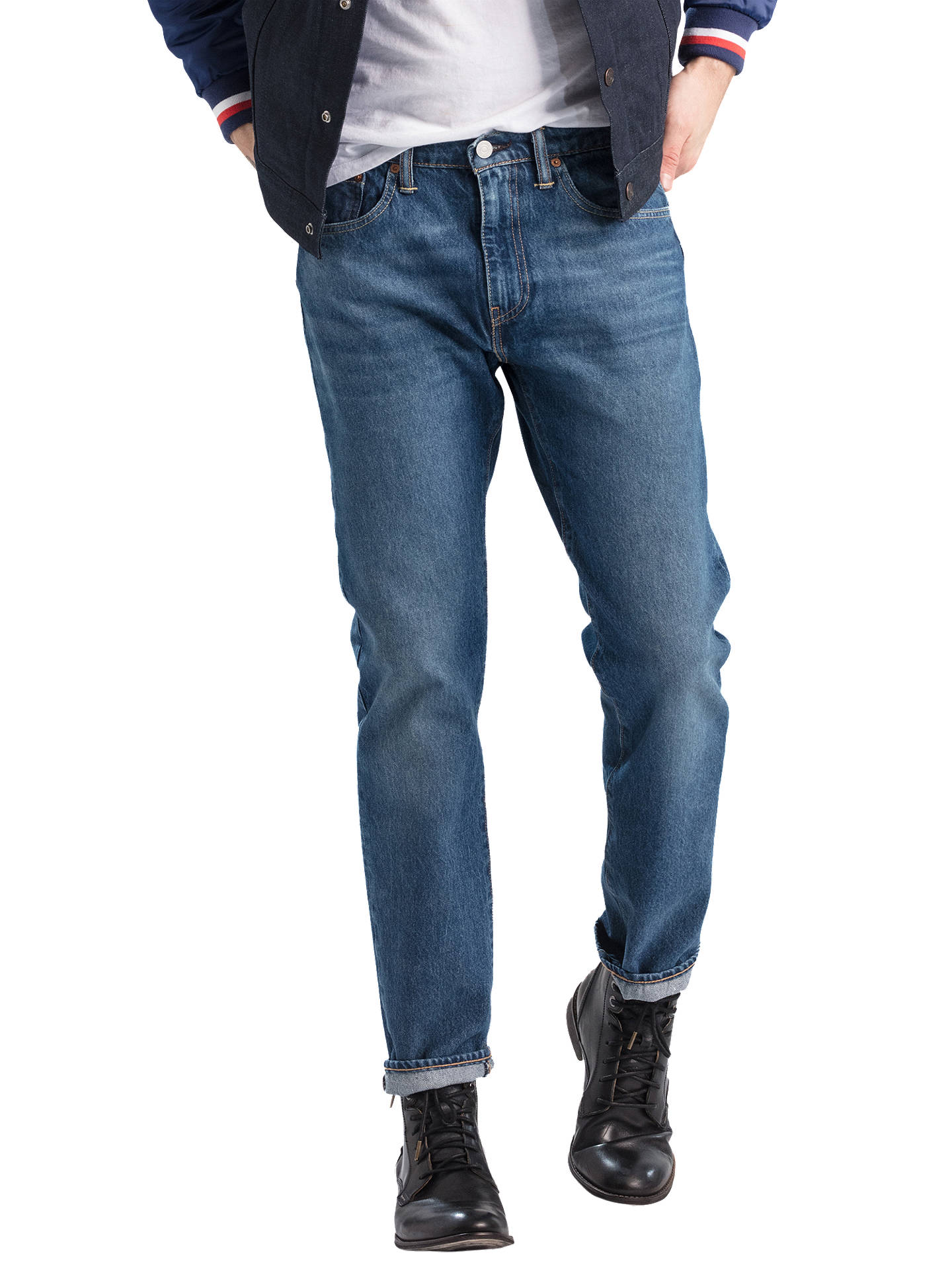 99b5996d5e1 Buy Levi's 502 Regular Tapered Jeans, Mid City, 30S Online at johnlewis. ...