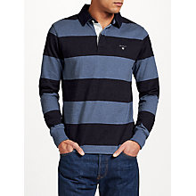 Buy Gant Rugger Bar Stripe Heavy Jersey Top Online at johnlewis.com