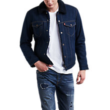 Buy Levi's Type 3 Sherpa Trucker Jacket, Indigo Sheep Online at johnlewis.com