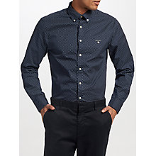 Buy Gant Mini Star Print Regular Fit Shirt, Navy Online at johnlewis.com