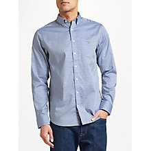 Buy GANT Two Ply 80s Pinpoint Cotton Check Oxford Shirt, Blue Online at johnlewis.com