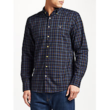 Buy Gant Tech Prep Check Oxford Shirt, Navy Online at johnlewis.com