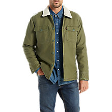 Buy Levi's Military Sherpa Jacket, Olive Night Online at johnlewis.com