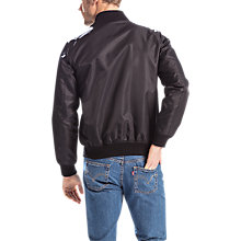 Buy Levi's Lyon Shell Bomber Jacket, Black Online at johnlewis.com