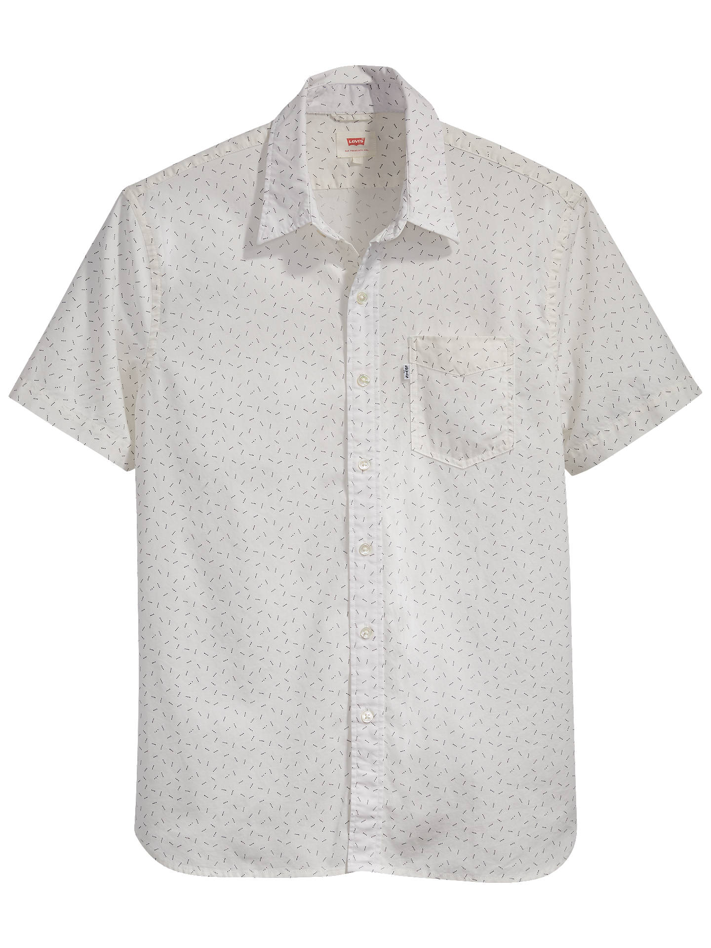 0c76e40de ... Buy Levi's Sunset One Pocket Short Sleeve Shirt, Cowbird  Marshmallow/Grey, S Online
