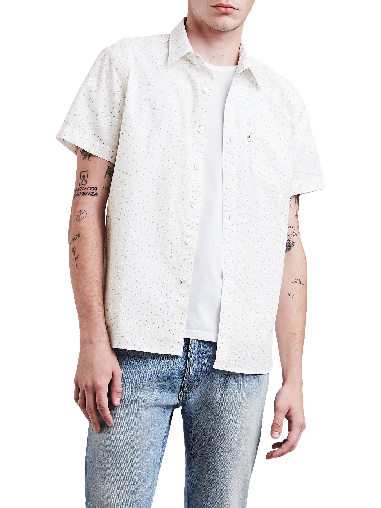BuyLevi's Sunset One Pocket Short Sleeve Shirt, Cowbird Marshmallow/Grey, S Online at ...