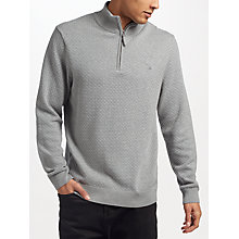 Buy Gant Dot Texture Half Zip Cotton Jumper Online at johnlewis.com
