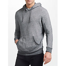 Buy J.Lindeberg Domino Cotton Hoodie, Dark Grey Melange Online at johnlewis.com
