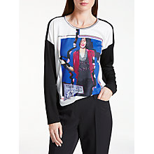 Buy Gerry Weber Graphic Print T-Shirt, Black Online at johnlewis.com