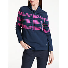 Buy Gerry Weber Long Sleeve Stripe Sweatshirt, Navy Online at johnlewis.com