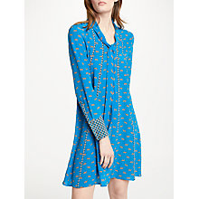 Buy Marc Cain Cheetah Print Silk Dress, Teal Online at johnlewis.com