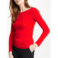 Buy Marc Cain Wool Cashmere Jumper, Flame Online at johnlewis.com