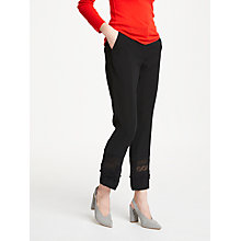 Buy Marc Cain Lace Panel Trousers, Black Online at johnlewis.com