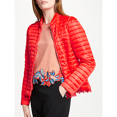 Marc Cain Down Quilted Puffer Jacket, Flame